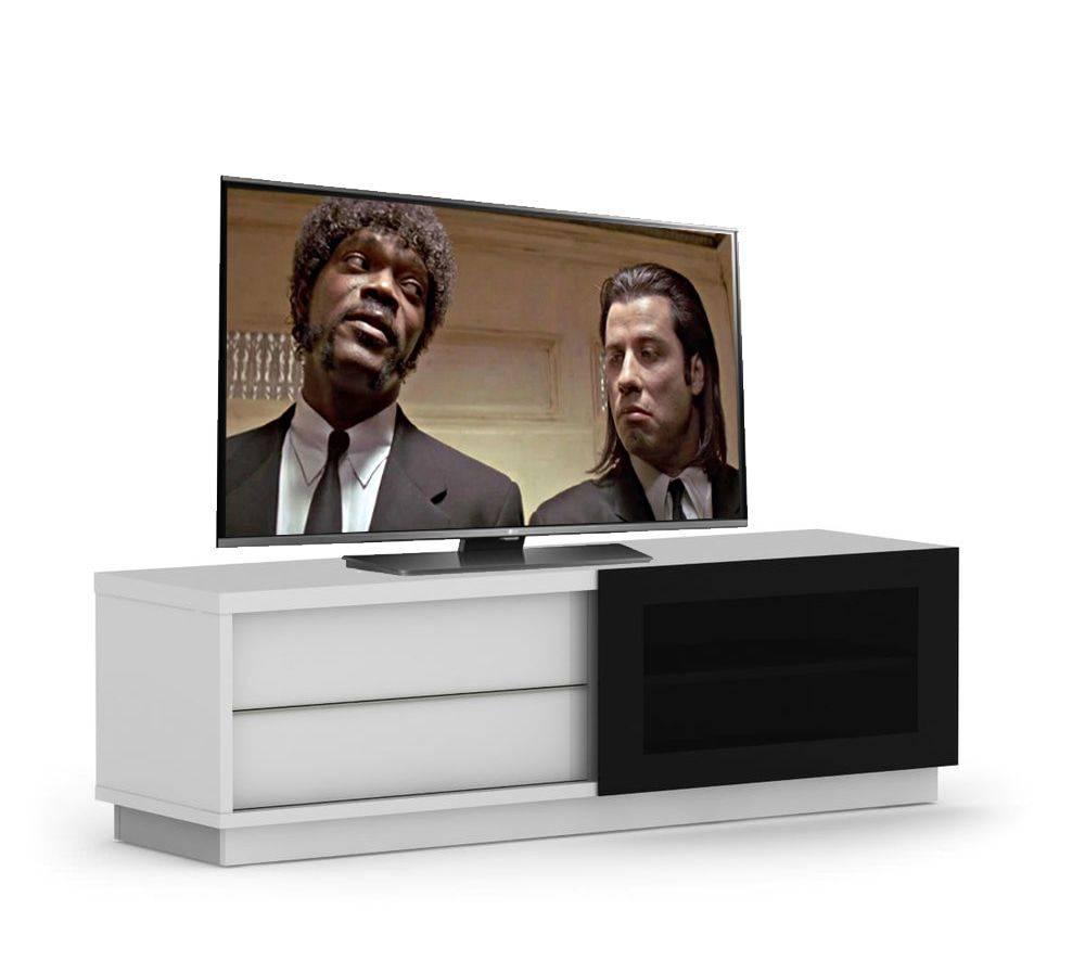woonkamer Elmob Harmony Slide TV meubel HG Wit