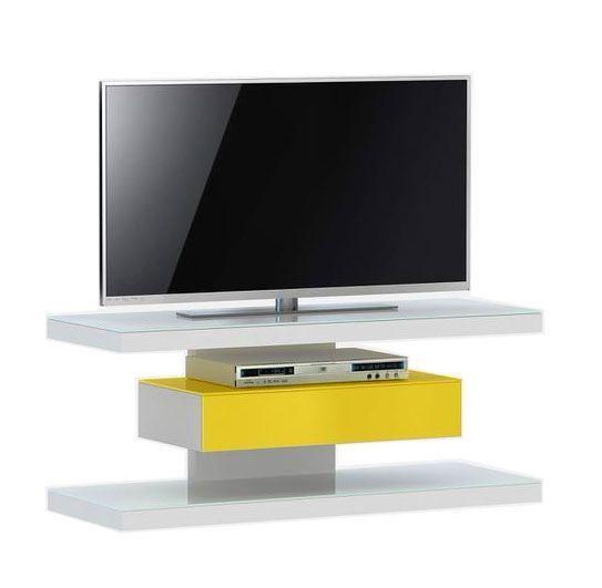 woonkamer Jahnke Moebel SL 610 TV meubel Wit Geel