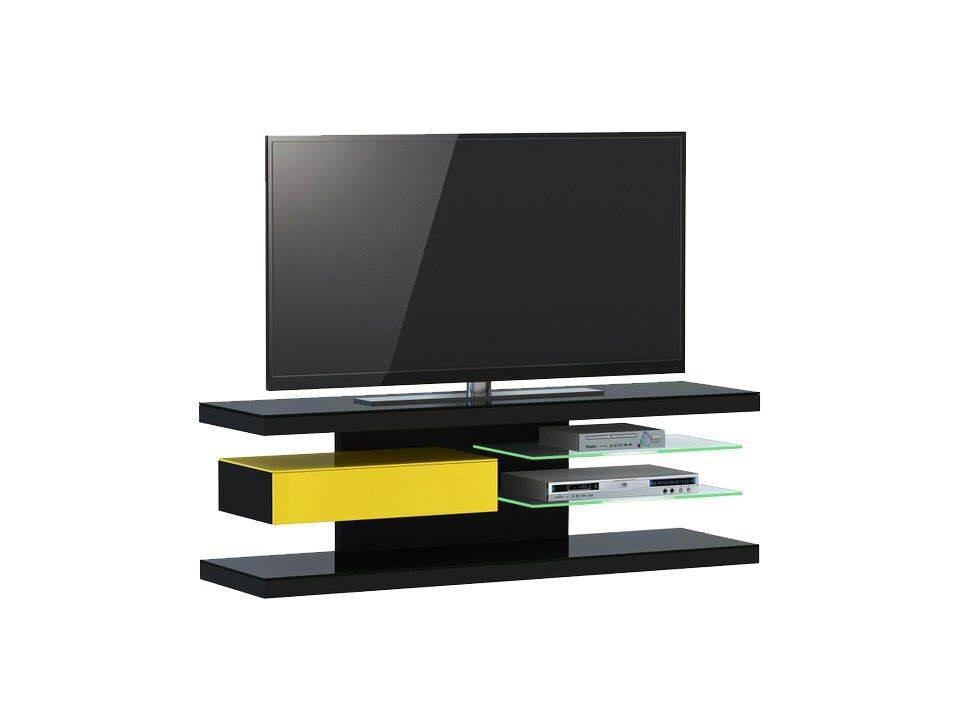 woonkamer Jahnke Moebel TV meubel SL 660 LED Zwart Geel