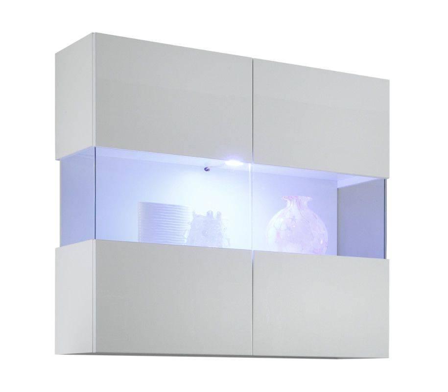 woonkamer Benvenuto Design Line Vitrinekast HG Wit+LED verlichting