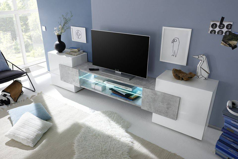 woonkamer Benvenuto Design Sandrino TV meubel Beton