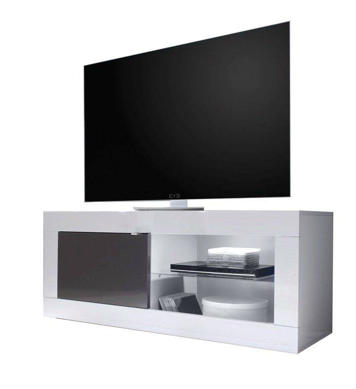 woonkamer Benvenuto Design Modena TV meubel Small HG Wit Antraciet