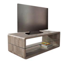 woonkamer Monaica Derby TV meubel Small Donker Eiken