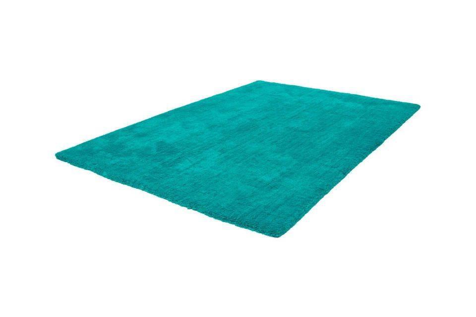 woonkamer Lalee Velvet Vloerkleed 80x150 Aqua Groen