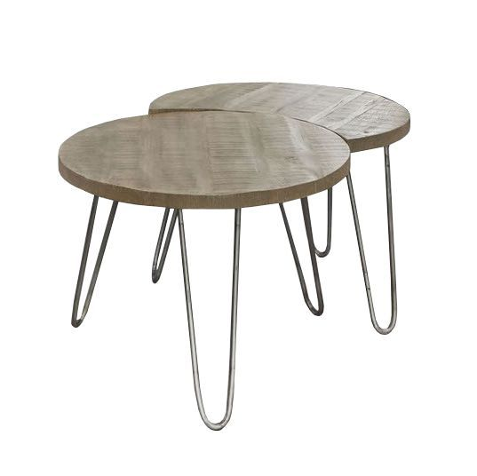 woonkamer Davidi Design Vera Salontafel Set Blank