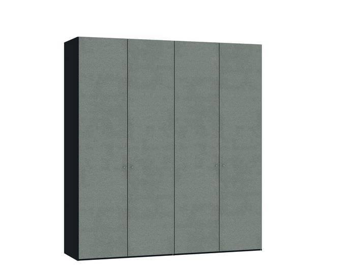Judine Solvig Draaideurkast Grijs/Zwart 4 deurs