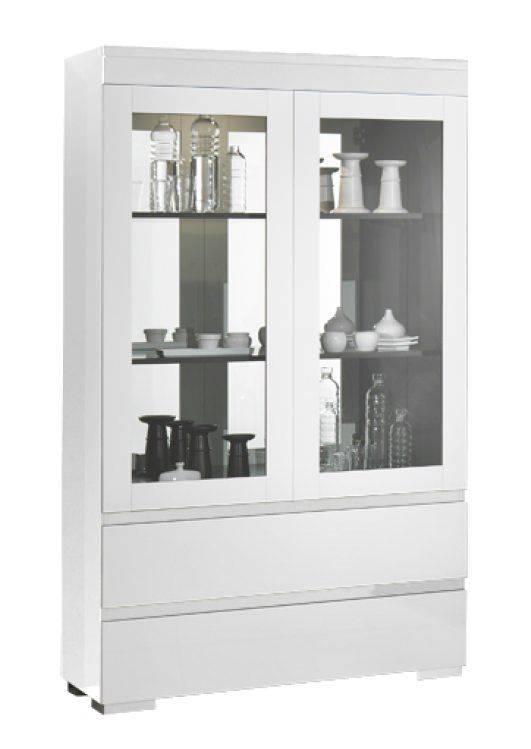 woonkamer Davidi Design Zenos Grande Vitrinekast HG Wit+verlichting