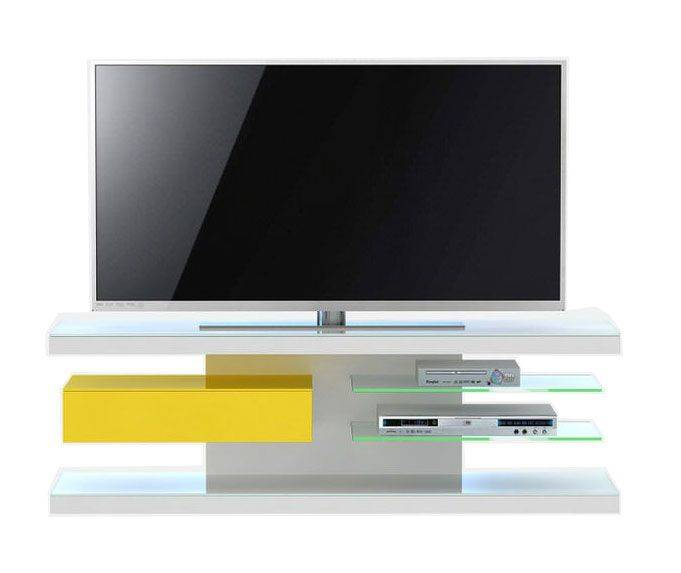 woonkamer Jahnke Moebel TV meubel SL 660 LED Wit Geel
