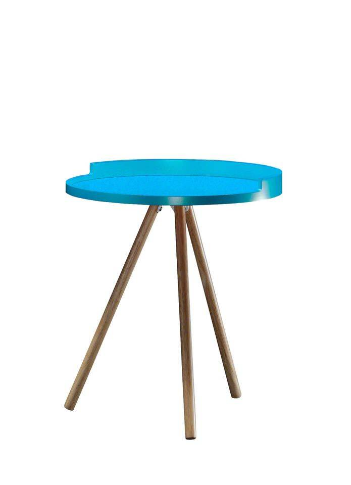 woonkamer Davidi Design Seal Bijzettafel Blauw