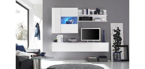 Benvenuto Design Mauro TV Wandmeubel HG Wit+Spot