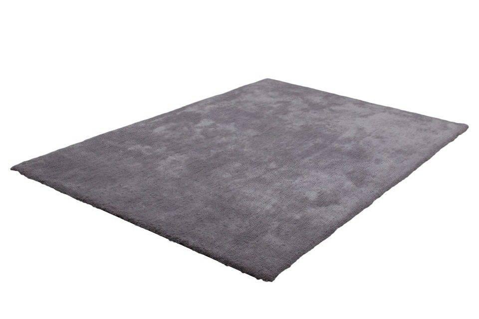 Lalee Velvet effen slaapkamer vloerkleed 80x150 Zilver 500