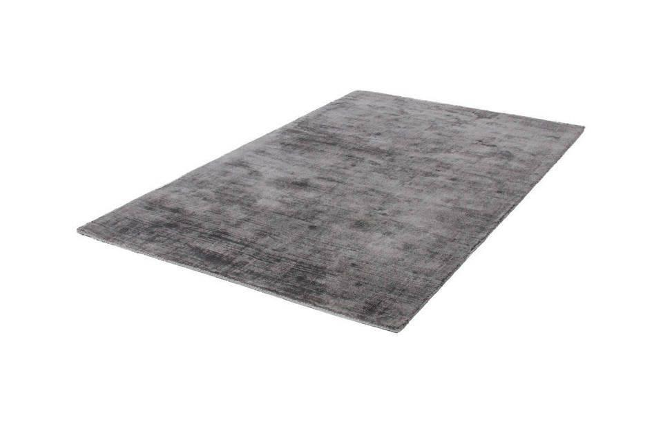 Lalee Premium effen slaapkamer vloerkleed 80x150 Silver