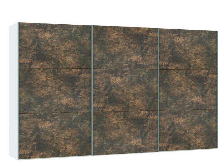 Judine Ferro Schuifdeurkast Brons/Wit 378.6 cm.