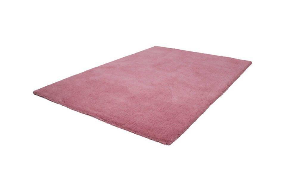 Lalee Velvet effen slaapkamer vloerkleed 80x150 Roze