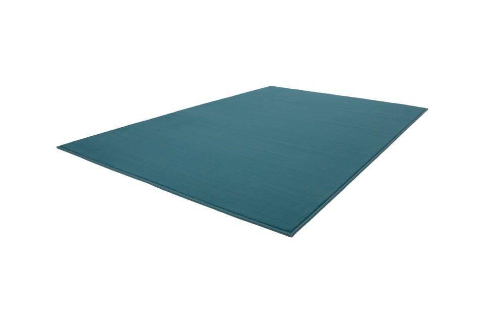 Kayoom Passage effen slaapkamer vloerkleed 120x170 Turquoise