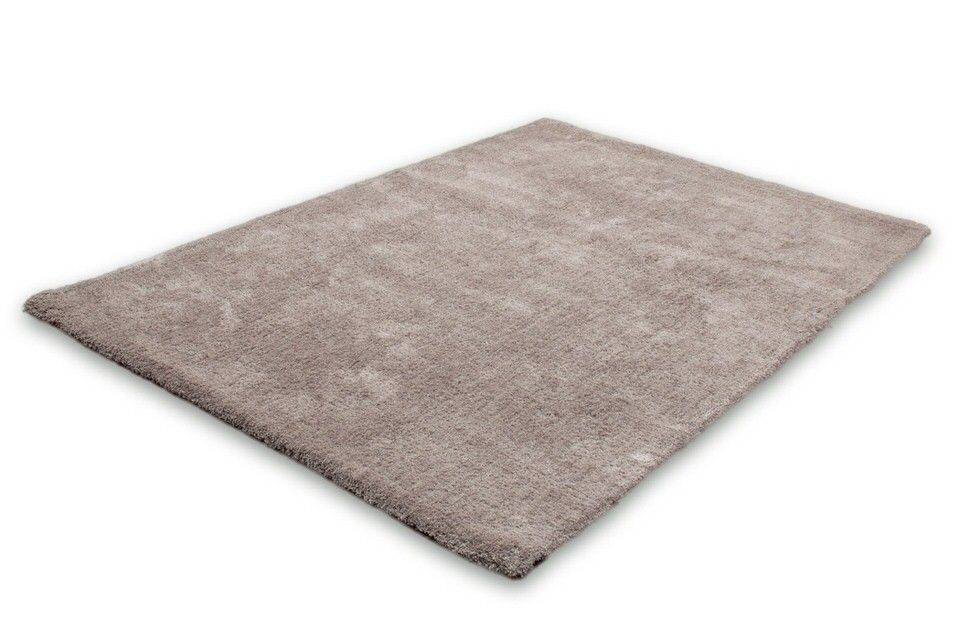 Lalee Velvet effen slaapkamer vloerkleed 80x150 Platinum 500