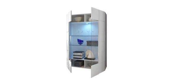 Benvenuto Design Dama Vitrinekast HG Wit + LED blauw