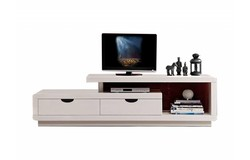 Crystal TV meubel Hoogglans Wit