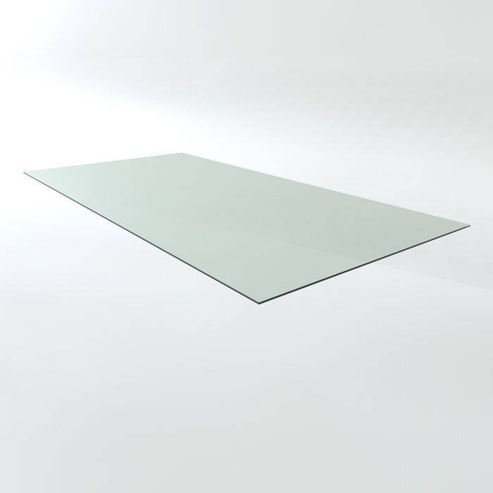 Richmond Interiors Maddox Eettafel Industrial 200 cm.+Glasplaat