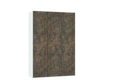 Ferro Draaideurkast Brons/Wit 3 deurs
