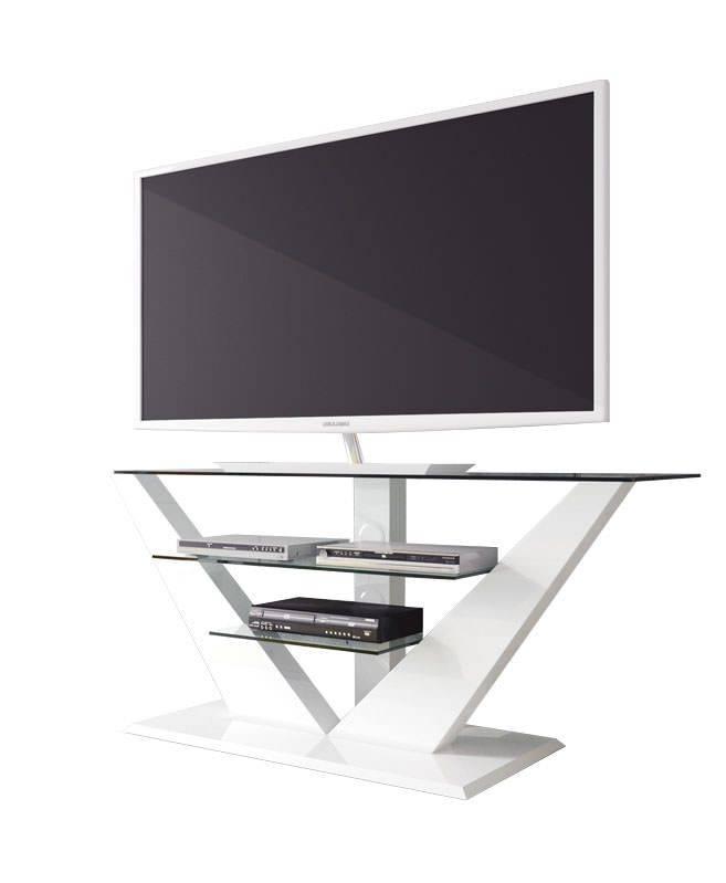 Hubertus Meble Luna TV-meubel Hoogglans Wit
