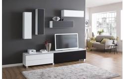 Fresh en Stick TV Wandmeubel Wit/Zwart