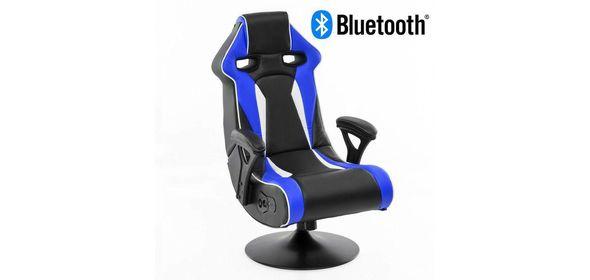 Music Rocker Specter Gamestoel Blauw met Bluetooth