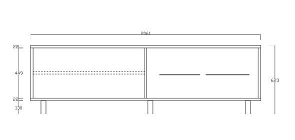 Benvenuto Design Aladin Dressoir Laag met Kunststoffen poten