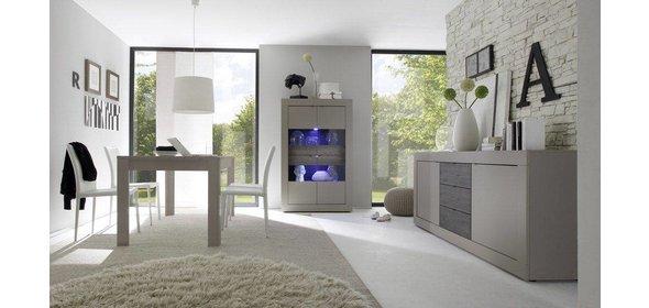 Benvenuto Design Modena Vitrinekast Big Beige/Wenge+Verlichting
