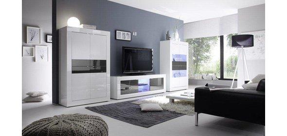 Benvenuto Design Modena Opbergkast HG Wit/Antraciet