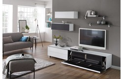 Fresh en Stick TV Wandmeubel Design Wit/Zwart