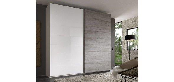 Benvenuto Design Dalino Schuifdeurkast Grijs Eiken 280 cm.