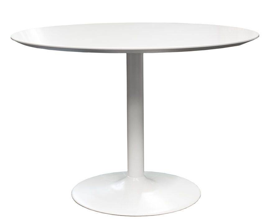 Tenzo Tequila Eettafel Small Wit+Witte poot
