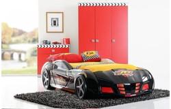 Racer Autobed Zwart + Matras