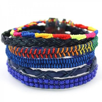Armband Ibiza blauw-multicolor magneetsluiting 164
