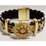 Armband luipaardprint met magneetsluiting