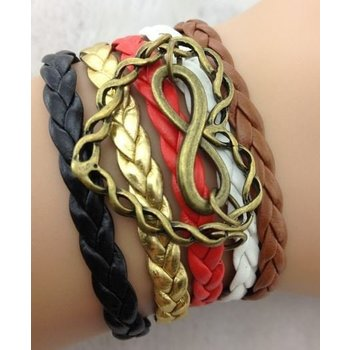 Armband multicolor-brons Heart-Infinity 127