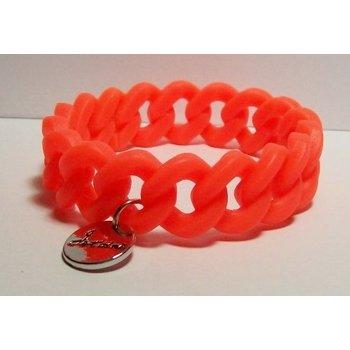 Armband rubber oranje