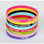 Armband set rubber One Direction 8 st.