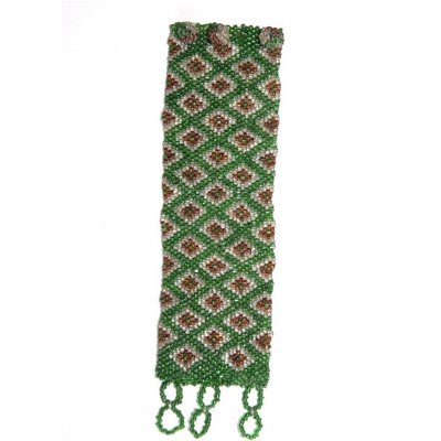 Armband vintage geweven groen-bruin
