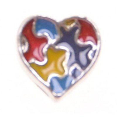 Bedel heart multicolor voor Memory Lockets