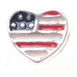Bedel heart US flag voor Memory Lockets