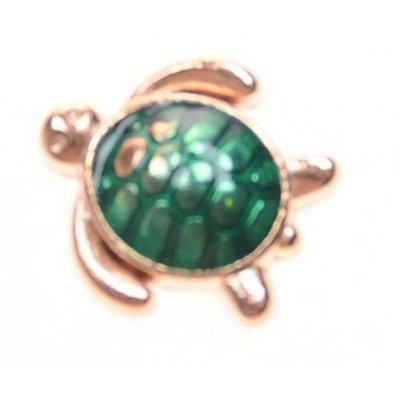 Bedel turtle gold voor Memory Lockets