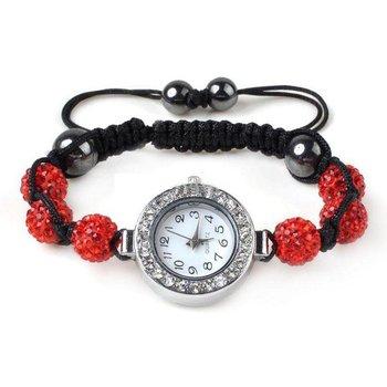 Horloge Shamballa rood