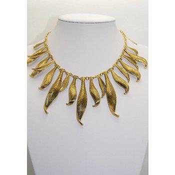 Ketting antiek goud leaves