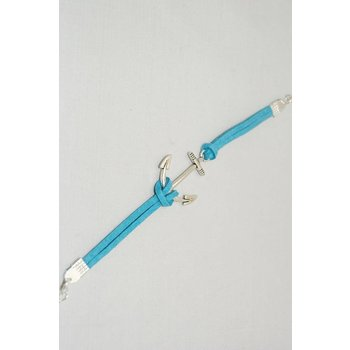 Armband anker blauw