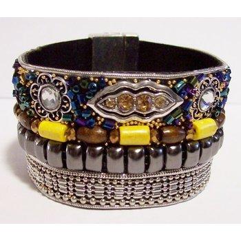 Armband Ibiza exclusief multicolor magneetsluiting 68