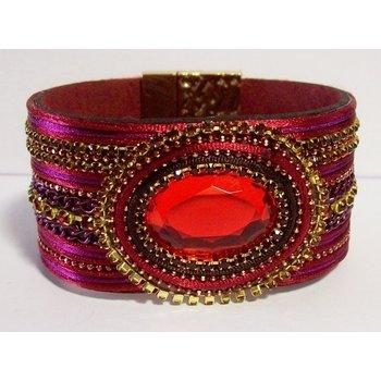 Armband exclusief rood magneetsluiting 027
