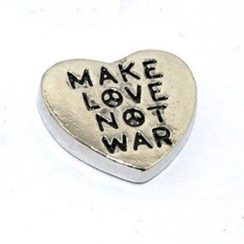 Bedel heart Make Love not War voor Memory Lockets