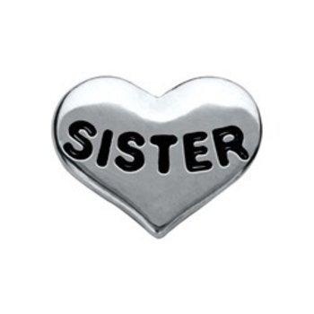 Bedel Heart Sister voor Memory lockets